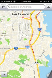 Apple's attempt at traffic mapping.