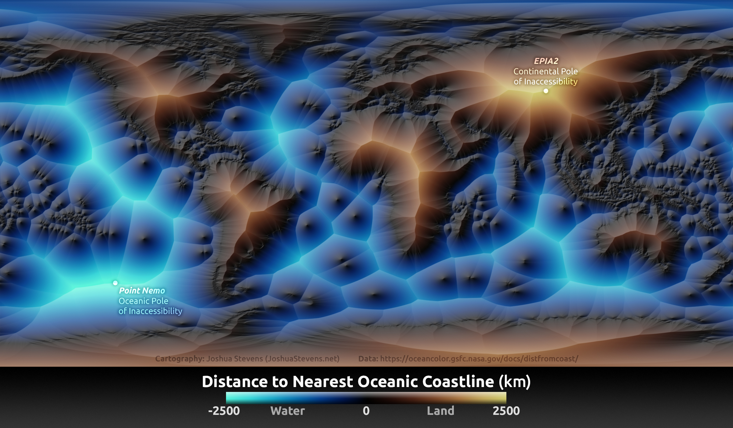 Mapping the Distance to the Nearest Coastline